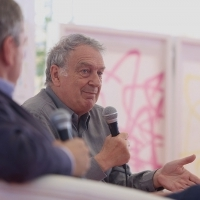 Stephen Frears, recipient of the Honorary Heart of Sarajevo, Coffee with..., Festival Square, 22nd Sarajevo Film Festival, 2016 (C) Obala Art Centar