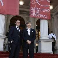 Actor Tom Bennett and Director Whit Stillman, LOVE & FRIENDSHIP, Open Air, Red carpet, National Theatre, 22nd Sarajevo Film Festival, 2016 (C) Obala Art Centar