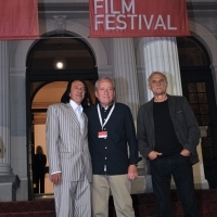 Haris Burina, Miloš Radović and Lazar Ristovski, TRAIN DRIVER'S DIARY, Avant Premiere, Red Carpet, National Theatre, 22nd Sarajevo Film Festival, 2016 (C) Obala Art Centar