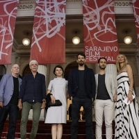 Cast and crew of the film DOGS, Competition Programme - Feature Film, Red Carpet, National Theatre, 22. Sarajevo Film Festival, 2016 (C) Obala Art Centar