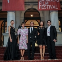 Cast and crew of the film HOSTAGES, Competition Programme, Competition Programe - Feature Film, Red Carpet, National Theatre, 23. Sarajevo Film Festival, 2017 (C) Obala Art Centar