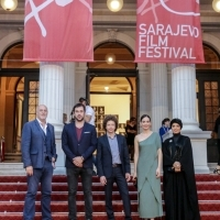 Members of the Competition Programe - Feature Film Jury, Red Carpet, National Theatre, 23. Sarajevo Film Festival, 2017 (C) Obala Art Centar