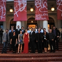 Cast and crew of the film GRAIN, Competition Programe - Feature Film, Red Carpet, National Theatre, 23. Sarajevo Film Festival, 2017 (C) Obala Art Centar