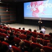 Programme opening DEALING WITH THE PAST and TRIBUTE TO Joshua Oppenheimer, THE ACT OF KILLING, Meeting Point Cinema, 23. Sarajevo Film Festival, 2017 (C) Obala Art Centar