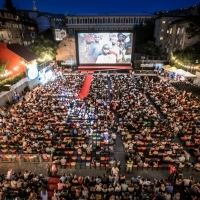 Screening of BABY DRIVER, Open Air Programme, Raiffeisen Open Air Cinema, 23. Sarajevo Film Festival, 2017 (C) Obala Art Centar