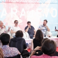 Coffee with... Cast and crew of THE FROG, Open Air Programme, Festival Square, 23. Sarajevo Film Festival, 2017 (C) Obala Art Centar