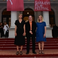 Hana Jušić, Jukka-Pekka Laakso, Amira Lekić, Members of European Short Film Jury, Red Carpet, National Theatre, 23. Sarajevo Film Festival, 2017 (C) Obala Art Centar