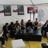 Cast and crew of BLACK SUN, Press conference, Avant Premiere, Festival Square, 23. Sarajevo Film Festival, 2017 (C) Obala Art Centar