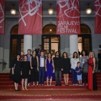 Cast and crew of the film DAYBREAK, Competition Programme, Competition Programe - Feature Film, Red Carpet, National Theatre, 23. Sarajevo Film Festival, 2017 (C) Obala Art Centar