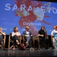 Cast and crew of the film DAYBREAK, Competition Programme Press Conference, Competition Programe - Feature Film, National Theatre, 23. Sarajevo Film Festival, 2017 (C) Obala Art Centar