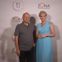 Director of Sarajevo Film Festival Mirsad Purivatra and Anila Gajević, managing director at ZONA, Industry Drink hosted by Talent Agency ZONA, Hotel Europe / Cafe, 24th Sarajevo Film Festival, 2018 (C) Obala Art Centar