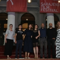 Crew of film Love 1. Dog with Elma Tataragić, Competition Programme - Feature Film programmer, Red Carpet, 24th Sarajevo Film Festival, 2018 (C) Obala Art Centar