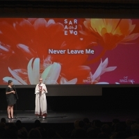 Nataša Govedarica and Aida Begić, National Theatre, 24th Sarajevo Film Festival, 2018 (C) Obala Art Centar