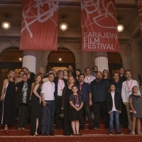 Crew of feature film All Alone, Competiton Programme, Red Carpet, 24th Sarajevo Film Festival, 2018 (C) Obala Art Centar