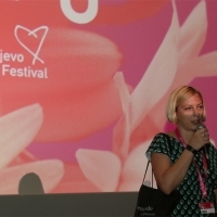 Senka Domanović, director of Occupied Cinema, Competition Programme - Documentary Film, Cinema City, 24th Sarajevo Film Festival, 2018 (C) Obala Art Centar