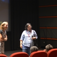 Programmer of Kinoscope Mathilde Henrot and director of Good Manners Juliana Rojas, Q&A session, Meeting Point, 24th Sarajevo Film Festival, 2018 (C) Obala Art Centar