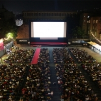 Atmosphere before the screening of Wildlife, Raiffeisen Open Air Cinema, 24th Sarajevo Film Festival, 2018 (C) Obala Art Centar