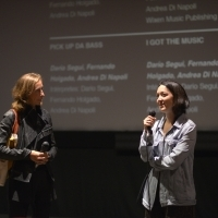 Programmer of Kinoscope Mathilde Henrot with director of Too Late to Die Young Dominga Sotomayor, Q&A session, Meeting Point, 24th Sarajevo Film Festival, 2018 (C) Obala Art Centar