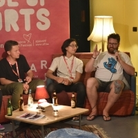 Marija Milovanović, Marcin Łuczaj, Julian Ross and John Canciani, Distribution Talk: Scouting Talent Today, Art Cinema Kriterion - House of Shorts, 24th Sarajevo Film Festival, 2018 (C) Obala Art Centar