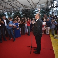 Mirsad Purivatra, director of the Sarajevo Film Festival, Welcome Drink, Festival Square, 24th Sarajevo Film Festival, 2018 (C) Obala Art Centar