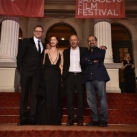 Mirsad Purivatra with Jury of the Competition Programme - Feature Film: Mike Goodridge, Judita Franković Brdar and Asghar Farhadi (Jury President), Red Carpet, 24th Sarajevo Film Festival, 2018 (C) Obala Art Centar