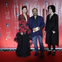 Jury of the Competition Programme - Feature Film: Judita Franković Brdar, Asghar Farhadi (Jury President) and Ana Urushadze, Opening Gala Reception, Hotel Europe, 24th Sarajevo Film Festival, 2018 (C) Obala Art Centar