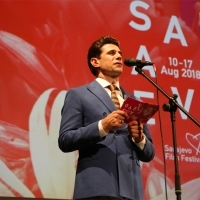 Alban Ukaj, Official Host of this year's SFF, Opening Ceremony, National Theatre, 24th Sarajevo Film Festival, 2018 (C) Obala Art Centar