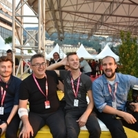 Official photographers of Sarajevo Film Festival, Awards Ceremony Warm-up Drink, Festival Square, 24th Sarajevo Film Festival, 2018 (C) Obala Art Centar