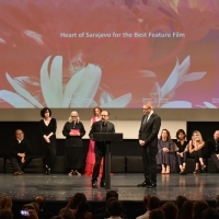 Asghar Farhadi, President of the Competition Programme Jury - Feature Film, announces the winner of the Heart of Sarajevo for the Best Feature Film, National Theatre, 24th Sarajevo Film Festival, 2018 (C) Obala Art Centar