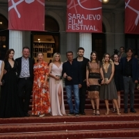 Crew of The Paper 2, Red Carpet, 24th Sarajevo Film Festival, 2018 (C) Obala Art Centar