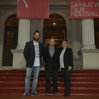 Neven Samardžić, Richard Kwietniowski and Andrea Rudert, Competition Programme Jury - Student Film, Red Carpet, 24th Sarajevo Film Festival, 2018 (C) Obala Art Centar