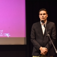 Moderator Jovan Marjanović, What Comes Around, Special Screenings, Meeting Point, 24th Sarajevo Film Festival, 2018 (C) Obala Art Centar