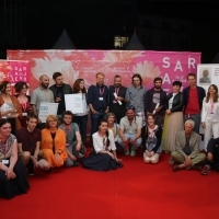 Docu Awards Ceremony & ByeBye Drink hosted by JIHLAVA International Film Festival, Festival Square, 24th Sarajevo Film Festival, 2018 (C) Obala Art Centar