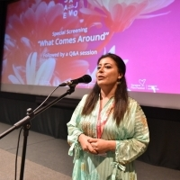 Director of What Comes Around Reem Saleh, Special Screenings, Meeting Point, 24th Sarajevo Film Festival, 2018 (C) Obala Art Centar