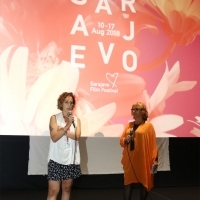 Rada Šešić, Programmer of Competition Programme - Documentary Film and Didem Pekün, director of Araf, Cinema City, 24th Sarajevo Film Festival, 2018 (C) Obala Art Centar