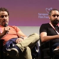 Director Milko Lazarov and writer Simeon Ventsislavov, Competition Programme Press Conference: Ága, National Theatre, 24th Sarajevo Film Festival, 2018 (C) Obala Art Centar