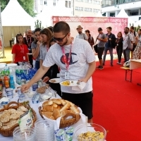 Talents Breakfast, Festival Square, 24th Sarajevo Film Festival, 2018 (C) Obala Art Centar