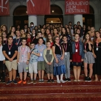 Jury of this year's youth programme, Red Carpet, 24th Sarajevo Film Festival, 2018 (C) Obala Art Centar