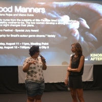 Director of Good Manners Juliana Rojas and programmer of Kinoscope Mathilde Henrot, Q&A session, Meeting Point, 24th Sarajevo Film Festival, 2018 (C) Obala Art Centar