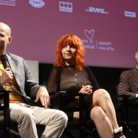 Luchian Ciobanu, Iris Spiridon and István Téglás, Competition Programme Press Conference: One and a Half Prince, National Theatre, 24th Sarajevo Film Festival, 2018 (C) Obala Art Centar