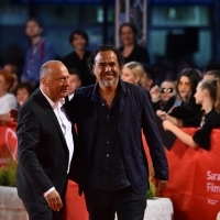 Director of Sarajevo Film Festival Mirsad Purivatra and Alejandro González Iñárritu, Recipient of Honorary Heart of Sarajevo, Red Carpet, 25th Sarajevo Film Festival, 2019 (C) Obala Art Centar