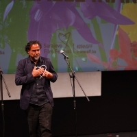 Alejandro González Iñárritu, Recipient of Honorary Heart of Sarajevo, Opening Ceremony, National Theatre, 25th Sarajevo Film Festival, 2019 (C) Obala Art Centar
