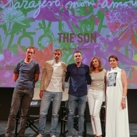 Producer Alem Babić, actors Uliks Fehmiu and Dino Bajrović, actress Snežana Bogdanović and director Ines Tanović, Competition Programme Press Conference: The Son, National Theatre, 25th Sarajevo Film Festival, 2019 (C) Obala Art Centar