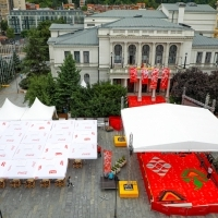 Festival Grand Caffé, National Theatre and Red Carpet, 25th Sarajevo Film Festival, 2019 (C) Obala Art Centar
