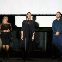Actress Jasna Ornela Bery, director Ines Tanović and mayor of the Municipality of Novi Grad Sarajevo Semir Efendić, Screening of The Son, Open Air Cinema at Safet Zajko Center, 25th Sarajevo Film Festival, 2019 (C) Obala Art Centar