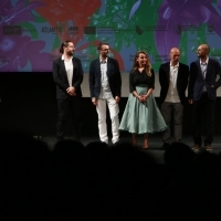 Actor Adnan Hasković and Crew of The Mute: producers Halil Kardas and Ismail Murat Erdagi, actress Vildan Atasever, actor Emin Gursoy and director Murat Pay, Gala Screening - Out of Competition, Competition Programme - Feature Film, National Theatre, 25th Sarajevo Film Festival, 2019 (C) Obala Art Centar