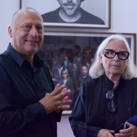 Director of Sarajevo Film Festival Mirsad Purivatra and photographer Brigitte Lacombe, Cinema | Portraits Brigitte Lacombe; Photographs 1975-2017, National Gallery of Bosnia and Herzegovina, 25th Sarajevo Film Festival, 2019 (C) Obala Art Centar