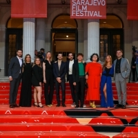 Crew of And Than We Danced and programmer of Competition Programme - Feature Film Elma Tataragić, Red Carpet, 25th Sarajevo Film Festival, 2019 (C) Obala Art Centar