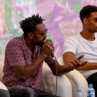 Director Ladj Ly and actor Djibril Zonga, Coffee With... crew of Les Misérables, Festival Square, 25th Sarajevo Film Festival, 2019 (C) Obala Art Centar