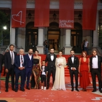 Crew of Open Door, Competition Programme - Feature Film, Red Carpet, 25th Sarajevo Film Festival, 2019 (C) Obala Art Centar